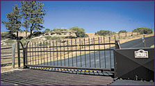 Our security gates are low-maintenance and can withstand high winds and high surface temperatures.